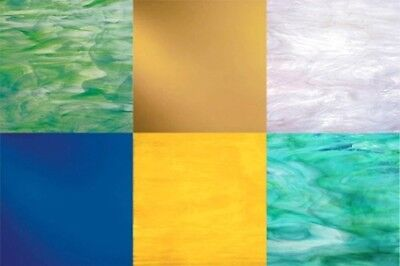 STAINED GLASS VARIETY Pack - (6) Sheets 8x10 - Random Colors ...