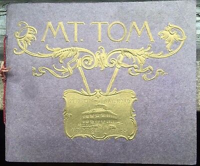 Mt. Tom Summit House & Railway Souvenir Picture Booklet Circa 1900 Holyoke Mass.