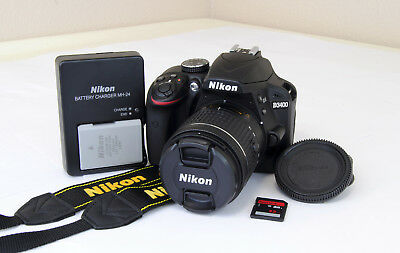 Nikon D3400 24.2MP Digital DSLR Camera Kit w/AF-P DX 18-55mm 3.5-5.6G VR Lens