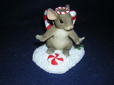 CHARMING TAILS SWEET LITTLE ANGEL Candy Canes + PIN NEW and Never Displayed