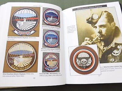 """""""emblems Of Honor Airborne"""" Us Ww2 Paratrooper Patch Reference Book N/mint"""