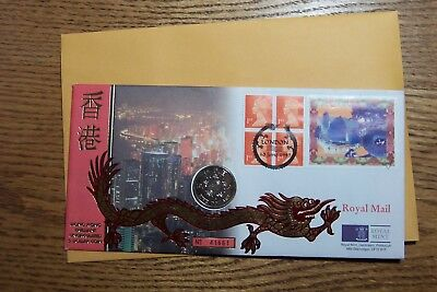China Hong Kong 1997 5 Dollars  FDC  Royal Mint