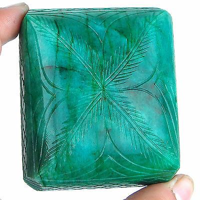 1135 Cts [Free Certified] 100% Natural Huge Emerald Masterpiece Moghul Carving
