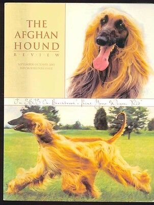 2 Issues of The Afghan Hound Review - September/October 2001 and Jan/Feb 2002