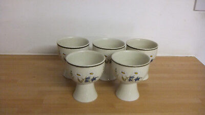Royal Doulton Lambethware  Set Of 5 Goblets Hill Top L.s. 1025