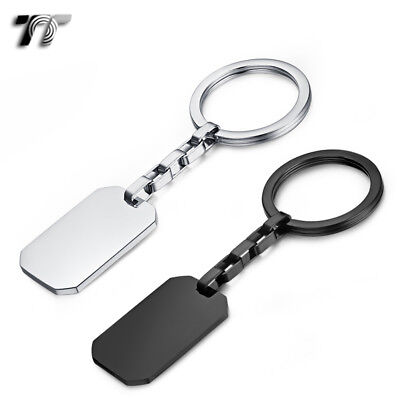 TT 316L Polished Stainless Steel Key Ring Engravable (KR08) NEW