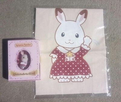Rare Sylvanian Families subscription only Tote Bag + 2016 Collector Figure 2016