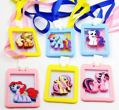 Kids Children Girl My Little Pony ID Name Card Protector Holder Tag badge Strap