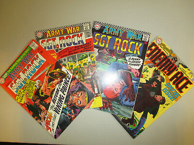 Our Army at War #'s 162, 178, 179 & Star Spangled War 146 Enemy Ace Lot of 4