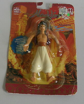Vintage Disney's Aladdin Bendable Flexible Action Figure 1990'S Collectible PAX