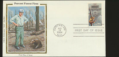 Smokey Bear #2096 Colorano Silk R&R Variety  First Day Cover John Muir Lot 1128