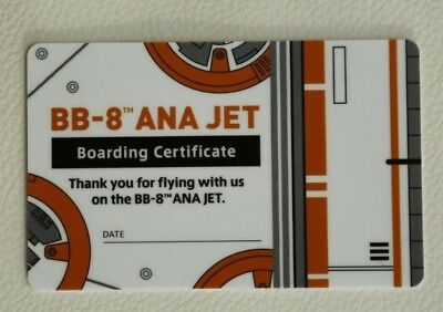 ANA StarWars Boarding Certificate Card BB-8 Jet All Nippon Airways Collector 777