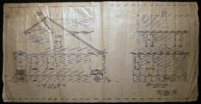 Circa 1920 Corona New York Architectural Drawing W S Worrall Jr. Architect