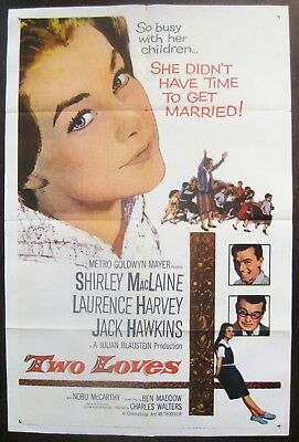 Two Loves 1961 Shirley MacLaine Original US One Sheet Poster