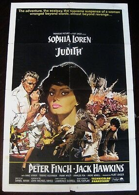 Judith 1966 Sophia Loren Peter Finch Original US One Sheet Poster
