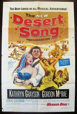The New Desert Song 1953 Gordon McRae Kathryn Grayson Original US Poster