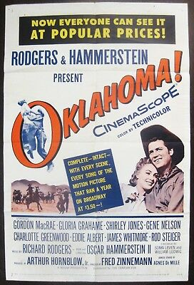 Oklahoma ! 1963 Gordon McRae Shirley Jones Original US One Sheet Poster