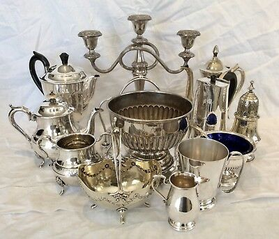Fine Quality Joblot Of Victorian & Edwardian Silver Plated Items Approx. 5 Kg