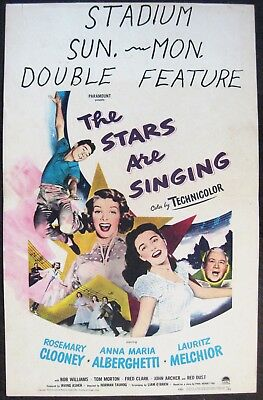 The Stars Are Singing 1953 Rosemary Clooney Anna Maria Alberghetti Window Card