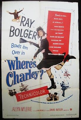Where's Charley? 1952 Ray Bolger Original US One Sheet Poster