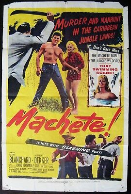 Machete 1958 Mari Blanchard Albert Dekker Original US One Sheet Poster