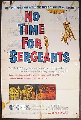 No Time For Sergeants 1958 Andy Griffith Don Knotts Original US One Sheet Poster