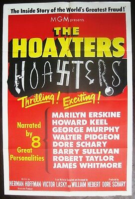 The Hoaxters 1953 Original US One Sheet Movie Poster