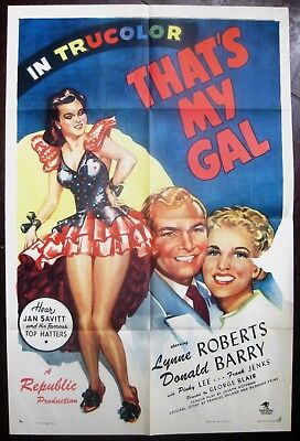 That's My Gal 1947 Lynne Roberts Don Barry Original US One Sheet Poster