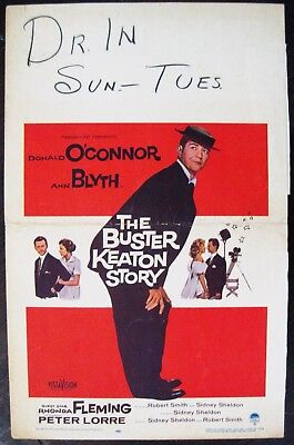 The Buster Keaton Story 1957 Donald O'Connor Ann Blyth US Window Card