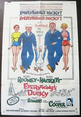 Everything's Ducky 1961 Mickey Rooney Buddy Hackett Original US Poster