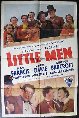 Little Men 1950 Kay Francis Jack Oakie Original US Poster