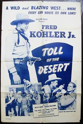 Toll Of The Desert 1935 Fred Kohler Jr Betty Mack Roger Williams Original Poster