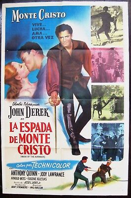 Mask Of The Avenger 1951 John Derek Anthony Quinn Spanish/US One Sheet Poster