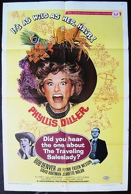 Did You Hear The One About The Traveling Saleslady ? 1968 Phyllis Diller Poster