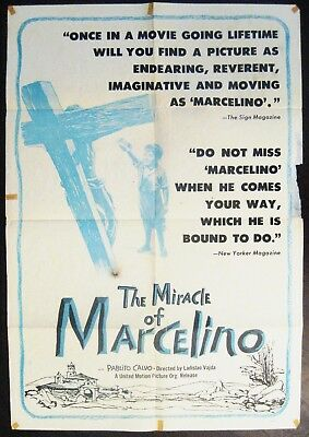 The Miracle Of Marcelino 1955 Original US One Sheet Poster
