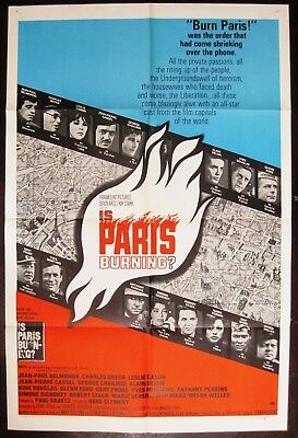 Is Paris Burning ? 1966 Leslie Caron Kirk Douglas Alain Delon Original US Poster