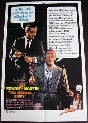 The Maltese Bippy 1969 Dan Rowan Dick Martin Julie Newmar Original US Poster