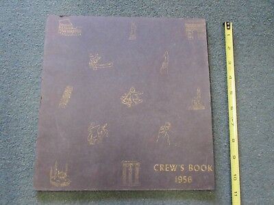 1956  OFFICERS & MEN of the U.S.S. CORAL SEA, Crew's Book, U.S. NAVY  VG cond.