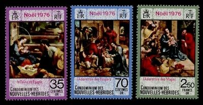 New Hebrides FR 230-2 MNH Christmas, Art, Paintings