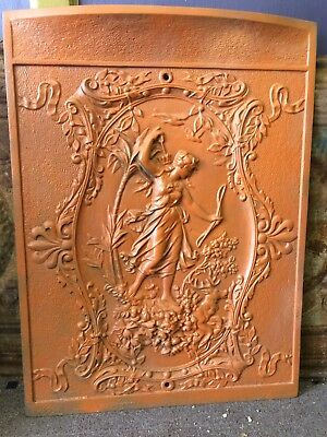 Antique Cast Iron Stove Or Fire Screen Cover
