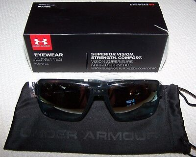 1674b35213 Under Armour Men s UA RECON Sunglasses - Shiny Crystal Clear Reflective New   100
