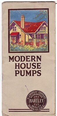 1920'a Advertising Brochure: Hartley House Pumps  Peoria Illinois