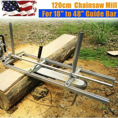 Fit 14'' - 48'' Chainsaw Guide bar Chain Saw Mill Log Planking Lumber Cutting US
