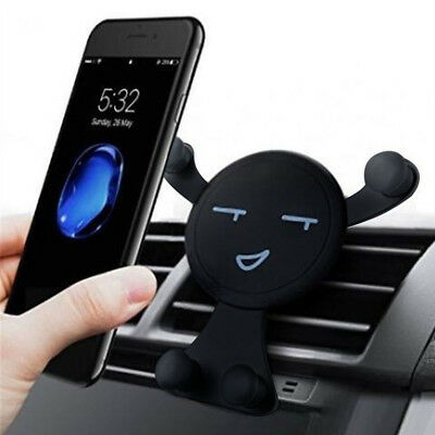 360° Rotating Gravity Car Mount Air Vent Smile Stand Holder For Cell Phone GPS
