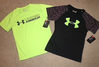 NWT Boy's Size 6 Under Armour Black With Red T-Shirt