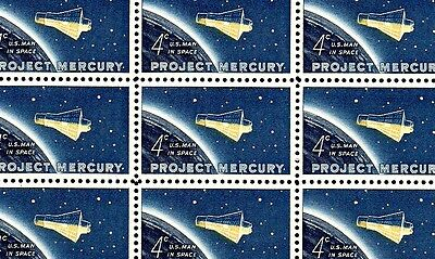 1962 - PROJECT MERCURY - #1193 Full Mint -MNH- Sheet of 50 Postage Stamps
