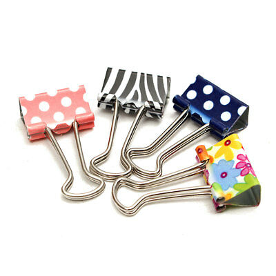 20Pcs Lot Metal Binder Clips File Paper Clip Photo Stationary Office Supplies