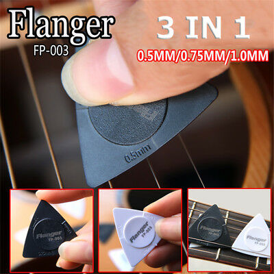 3Pcs Folk Acoustic Guitar/Electric Guitar Pick Triangular Scrub Anti-slip Paddle