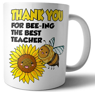 Teacher Teaching Assistant Nursery Gifts  Thank You For Bee-ing The Best Teacher
