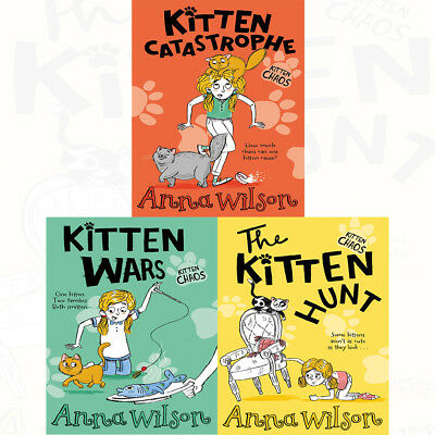 Kitten Chaos Series Anna Wilso 3 Books Collection Set Kitten Hunt,Wars,Catastrop